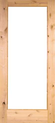 KNOTTY ALDER 1 Lite French Door