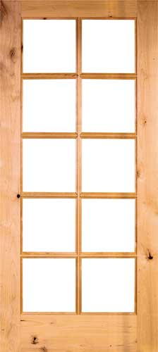 KNOTTY ALDER 10 Lite French Door