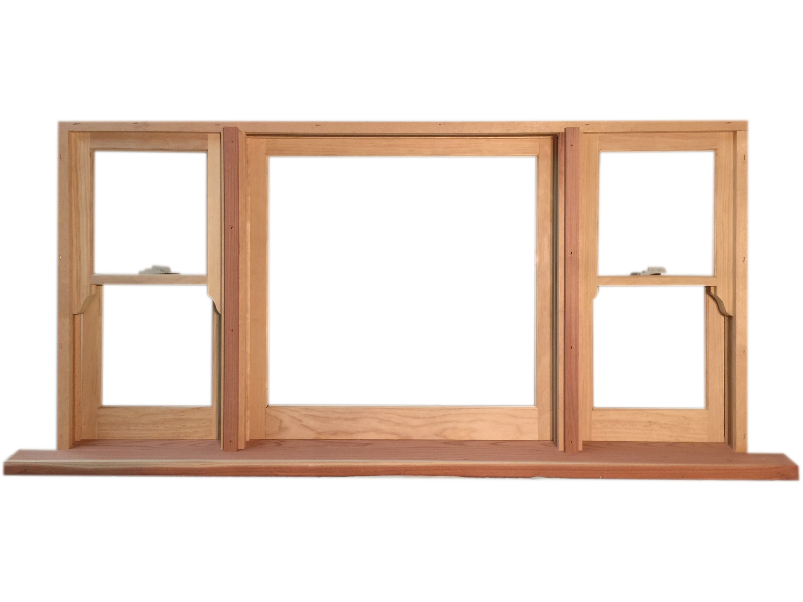 Double Hung Flankers With Fixed Center Window